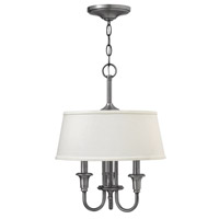 Webster 3 Light 14 inch Antique Nickel Hanging Foyer Ceiling Light