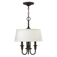 Webster 3 Light 14 inch Oil Rubbed Bronze Hanging Foyer Ceiling Light