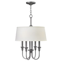 Webster 4 Light 18 inch Antique Nickel Hanging Foyer Ceiling Light