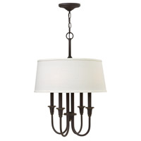 Hinkley 3736OZ Webster 4 Light 18 inch Oil Rubbed Bronze Hanging Foyer Ceiling Light