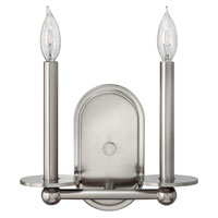 Hinkley 3742BN Piedmont 2 Light 11 inch Brushed Nickel Sconce Wall Light