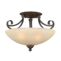 Hinkley Lighting Middlebury 3 Light Semi Flush in Forged Iron 3761FI photo thumbnail