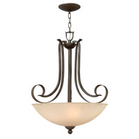 Hinkley Lighting Middlebury 3 Light Hanging Foyer in Forged Iron 3762FI
