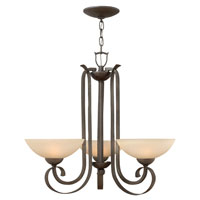 Hinkley Lighting Middlebury 3 Light Chandelier in Forged Iron 3763FI