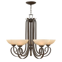 Hinkley 3765FI Middlebury 5 Light 33 inch Forged Iron Chandelier Ceiling Light