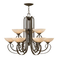Hinkley Lighting Middlebury 9 Light Chandelier in Forged Iron 3768FI photo thumbnail