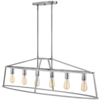 Hinkley 3776PN Middleton 6 Light 52 inch Polished Nickel Linear Chandelier Ceiling Light