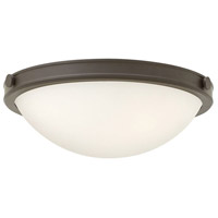 Hinkley 3782OZ Maxwell 2 Light 14 inch Oil Rubbed Bronze Flush Mount Ceiling Light, Etched Opal Glass