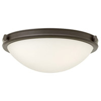 Hinkley 3783OZ Maxwell 3 Light 19 inch Oil Rubbed Bronze Foyer Flush Mount Ceiling Light, Etched Opal Glass