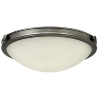 Maxwell 3 Light 19 inch Antique Nickel Flush Mount Ceiling Light, Etched Opal Glass