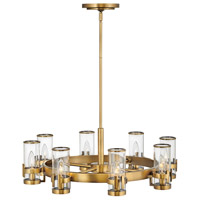Hinkley 38106HB Reeve 8 Light 27 inch Heritage Brass Chandelier Ceiling Light