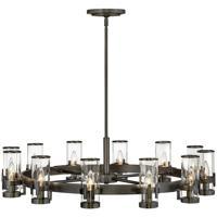 Hinkley 38109BX Reeve 12 Light 36 inch Black Oxide Chandelier Ceiling Light