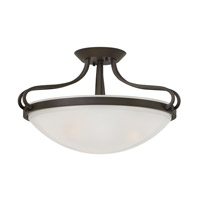 Hinkley 3831OB Paxton 3 Light 19 inch Olde Bronze Semi Flush Ceiling Light