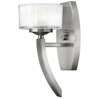 Meridian 1 Light 5 inch Brushed Nickel Sconce Wall Light, Dimmable