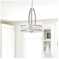 Hinkley 3872BN Meridian 3 Light 20 inch Brushed Nickel Inverted Pendant Ceiling Light alternative photo thumbnail