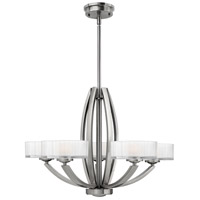 Hinkley 3875BN Meridian 5 Light 27 inch Brushed Nickel Chandelier Ceiling Light
