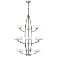 Meridian 12 Light 34 inch Brushed Nickel Hanging Foyer Ceiling Light