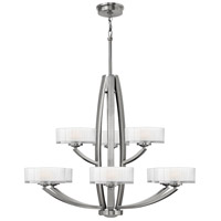 Meridian 9 Light 34 inch Brushed Nickel Foyer Chandelier Ceiling Light