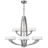 Hinkley Lighting Meridian 9 Light Chandelier in Brushed Nickel 3878BN