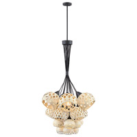 Edie 19 Light 36 inch Oil Rubbed Bronze with Weathered White Accents Chandelier Ceiling Light, Multi Tier