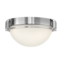 Hinkley 3902CM Logan 2 Light 13 inch Chrome Flush Mount Ceiling Light, Etched Opal Glass