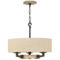 Hinkley 3913IR Wyatt 3 Light 19 inch Iron Rust Chandelier Ceiling Light, Single Tier