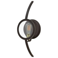 Hinkley 3920KZ Fulham 1 Light 8 inch Buckeye Bronze Sconce Wall Light, Clear Beveled Glass
