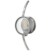 Hinkley 3920PL Fulham 1 Light 8 inch Polished Antique Nickel Sconce Wall Light, Clear Beveled Glass