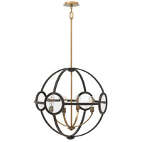 Hinkley 3924KZ Fulham 4 Light 26 inch Buckeye Bronze Chandelier Ceiling Light, Clear Beveled Glass