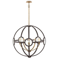 Fulham 5 Light 32 inch Buckeye Bronze Chandelier Ceiling Light