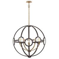 Hinkley 3925KZ Fulham 5 Light 32 inch Buckeye Bronze/Heritage Brass Chandelier Ceiling Light