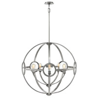 Hinkley 3925PL Fulham 5 Light 32 inch Polished Antique Nickel Chandelier Ceiling Light