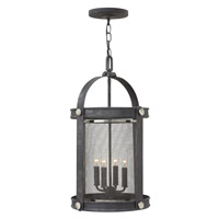 Hinkley Lighting Holden 4 Light Hanging Foyer in Aged Zinc 3942DZ