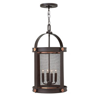 Hinkley 3942KZ Holden 4 Light 14 inch Buckeye Bronze Hanging Foyer Ceiling Light