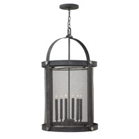 Hinkley 3944DZ Holden 6 Light 20 inch Aged Zinc Hanging Foyer Ceiling Light