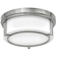 Hinkley 3971BN Weston 2 Light 13 inch Brushed Nickel Flush Mount Ceiling Light, Etched Opal Glass