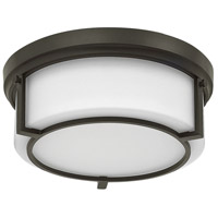 Hinkley 3971KZ Weston 2 Light 13 inch Buckeye Bronze Flush Mount Ceiling Light, Etched Opal Glass
