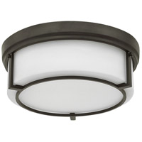 Weston 3 Light 15 inch Buckeye Bronze Flush Mount Ceiling Light, Etched Opal Glass