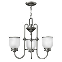 Hinkley Lighting Easton 3 Light Chandelier in Polished Antique Nickel 3983PL photo thumbnail