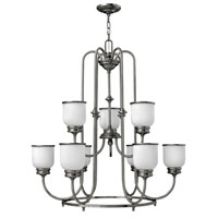 Hinkley Lighting Easton 9 Light Chandelier in Polished Antique Nickel 3988PL photo thumbnail