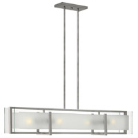 Latitude 4 Light 42 inch Brushed Nickel Linear Chandelier Ceiling Light