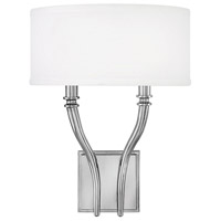 Hinkley 4002PN Surrey 2 Light 12 inch Polished Nickel Wall Sconce Wall Light