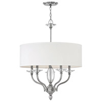 Hinkley 4005PN Surrey 5 Light 24 inch Polished Nickel Chandelier Ceiling Light