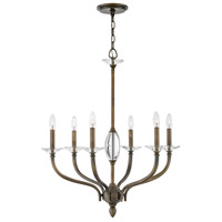 Hinkley 4006OR Surrey 6 Light 28 inch Oiled Bronze Chandelier Ceiling Light