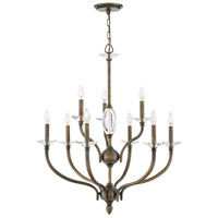 Hinkley 4009OR Surrey 9 Light 30 inch Oiled Bronze Chandelier Ceiling Light