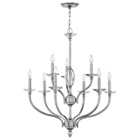 Hinkley 4009PN Surrey 9 Light 30 inch Polished Nickel Chandelier Ceiling Light