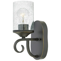 Hinkley 4010OL-CL Casa 1 Light 5 inch Olde Black Sconce Wall Light in Clear Seedy