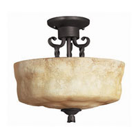 Hinkley Lighting Casa 2 Light Semi Flush in Olde Black 4011OL