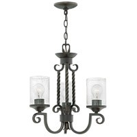 Hinkley 4013OL-CL Casa 3 Light 17 inch Olde Black Chandelier Ceiling Light