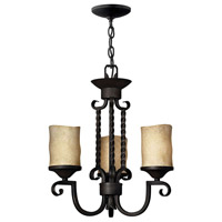 Hinkley 4013OL Casa 3 Light 17 inch Olde Black Chandelier Ceiling Light